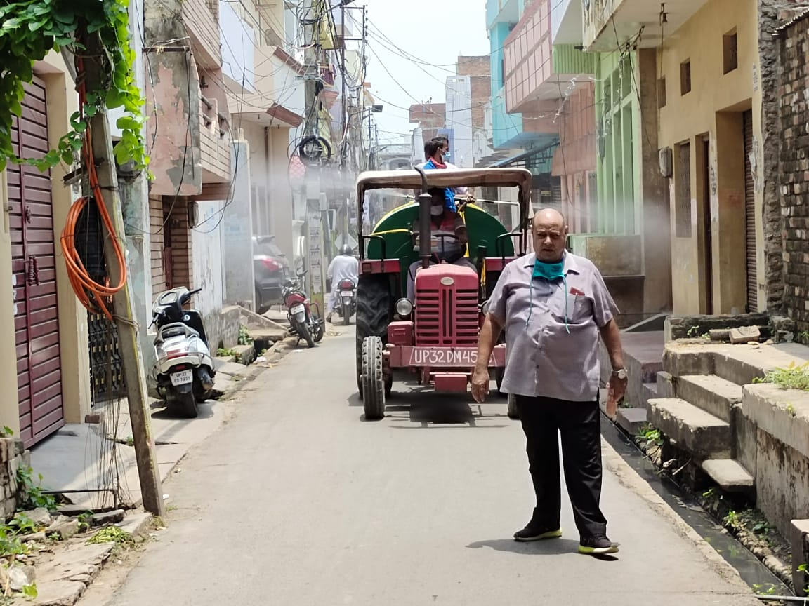 Sanitization Drives In Various Parts Of Lucknow